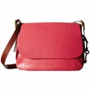Fossil Harper Red Leather Crossbody Bag